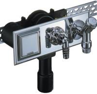 Sifon ingropat pentru masina de spalat + racord apa rece + dop + priza - Sifoane de scurgere pentru pardoseala si accesorii