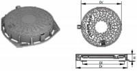 Capace carosabile din fonta circulare - 25T - Capace si gratare din fonta pentru camine de canalizare