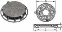 Capace carosabile din fonta circulare - 40T - Capace si gratare din fonta pentru camine de canalizare