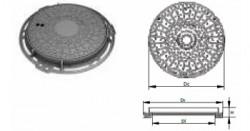 Capace necarosabile din fonta circulare - 12.5T - Capace si gratare din fonta pentru camine de canalizare