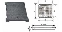 Capace necarosabile din fonta patrate - 12.5T - Capace si gratare din fonta pentru camine de canalizare