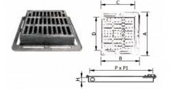 Gratare carosabile din fonta patrate - 40T - Capace si gratare din fonta pentru camine de canalizare