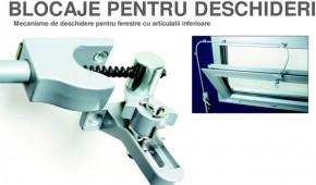 Mecanisme de deschidere pentru ferestre cu articulatii inferioare - Mec line