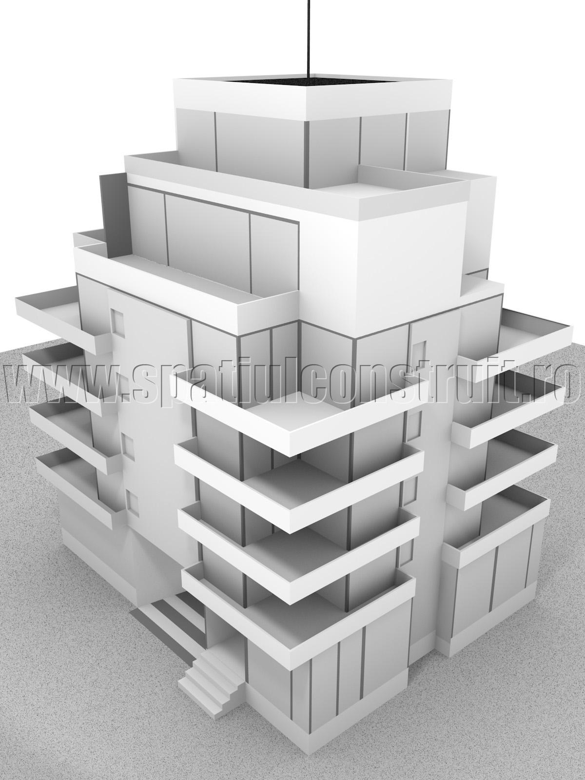 Bloc cu cinci niveluri - Locuinte cu putine niveluri
