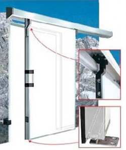 Usa glisanta cu izolatie termica 68mm - 480 ST - Fara toc - Usi frigorifice