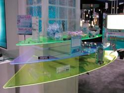 Plexiglas Fluorescent - Polite magazin - Plexiglas pentru amenajari de magazine si de standuri