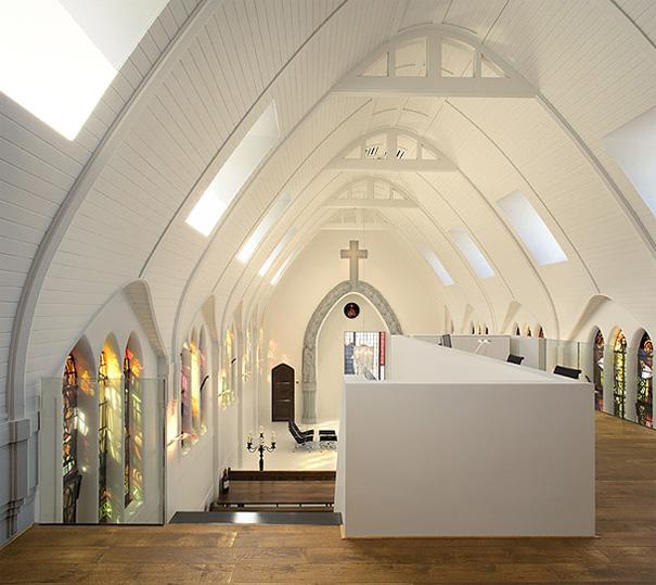 Biserica Vietii din Utrecht Tările de Jos transformata in locuinta moderna - Biserica Vietii din Utrecht