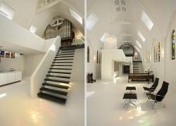 Biserica Vietii din Utrecht, Tarile de Jos transformata in locuinta moderna Biserica Vietii din Utrecht, Tarile de Jos transformata in locuinta moderna
