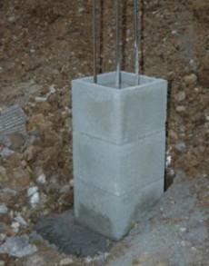 Pilon din beton - Utilizare - Elemente de fundatie pentru piloni din beton