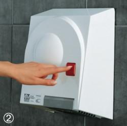 Uscator de maini - Ecodry Red Vortice - Uscatoare de maini si dozator