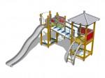 Echipament de joaca - FINNO Activity tower - 120130M - FINNO elemente
