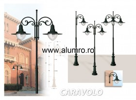 Stalpi de iluminat din aluminiu turnat sau extrudat - CARAVOLO - Stalpi de iluminat