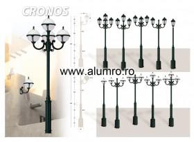 Stalpi de iluminat din aluminiu turnat sau extrudat - CRONOS - Stalpi de iluminat