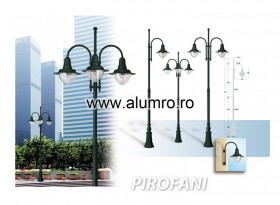 Stalpi de iluminat din aluminiu turnat sau extrudat - PIROFANI - Stalpi de iluminat