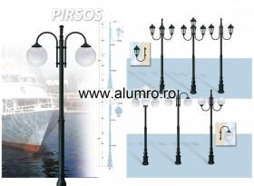 Stalpi de iluminat din aluminiu turnat sau extrudat - PIRSOS - Stalpi de iluminat