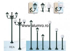 Stalpi de iluminat din aluminiu turnat sau extrudat - REA - Stalpi de iluminat