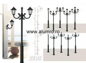 Stalpi de iluminat din aluminiu turnat sau extrudat - ZEUS - Stalpi de iluminat