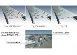 Panouri din tabla zincata - Tipuri de suprafete - Trepte si panouri din tabla zincata - MBS