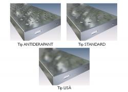 Trepte din tabla zincata - Tipuri de suprafete - Trepte si panouri din tabla zincata - MBS