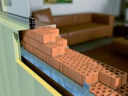 Modul de fixare a sistemului Thermomax pe perete de caramida - Montaj pe pereti - TERMOMAX