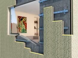 Modul de fixare a sistemului Thermomax pe perete din beton - Montaj pe pereti - TERMOMAX