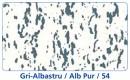 Gri albastru cu Alb pur - Travertin - Culori Traverin