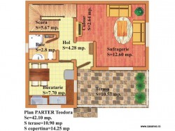 Plan parter - Casa lemn Teodora