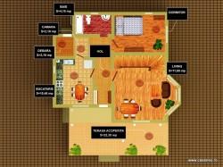 Plan parter - Casa lemn Ileana