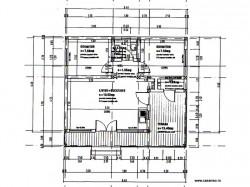 Plan casa - Casa lemn Ioana