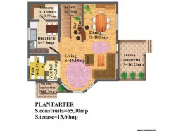 Plan parter - Casa lemn Malina