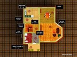 Plan parter - Casa lemn Prima Casa