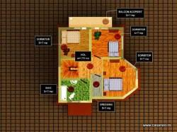Plan etaj - Casa lemn Prima Casa