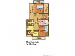 Plan etaj - Casa lemn Raluca