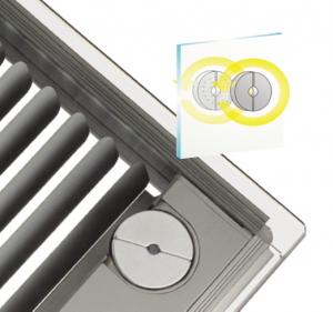 Transferul fortei de comanda in sticla de izolare, cu ajutorul unei perechi de magneti rotitori. Inlesneste inclinarea si tragerea jaluzelei, fara a afecta etanseitatea sticlei termoizolante. - Magnet popis si Motor popis