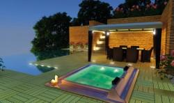 Spa pentru 4 persoane BARCELONA Commercial - Spa-uri pentru uz comercial sau privat