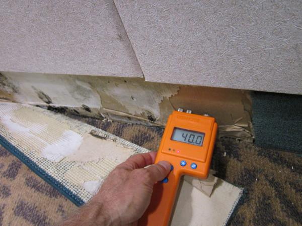 foto: purocleanpers.us - Verificarea umiditatii din perete se poate face cu ajutorul unui aparat special (foto: purocleanpers.us)