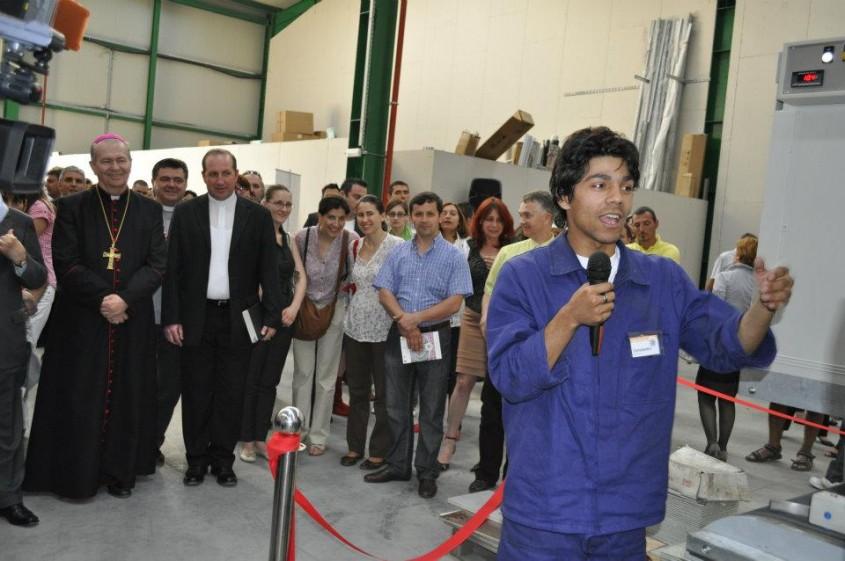 Inaugurarea Fabricii de mozaic - Inaugurarea FABRICII DE MOZAIC