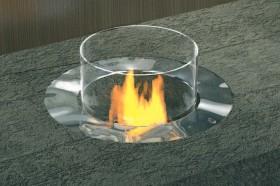 Semineu pe bioetanol - Arhitects Line - RONDO - Seminee pe bioetanol cu insertii manuale - PLANIKA