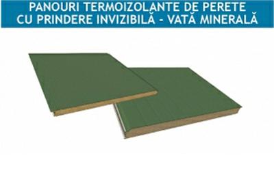 Pi Fv - panou termoizolant de perete cu prindere invizibila cu miez de vata minerala - Panouri de perete cu prindere invizibila