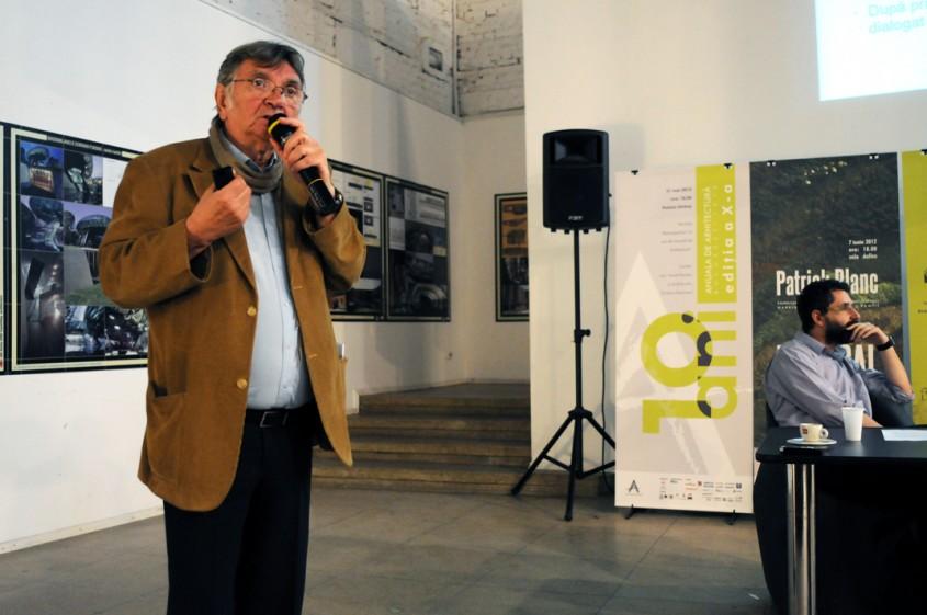 Conferinta de presa a Anualei de Arhitectura Bucuresti a fost prezidata de prof dr arh Mircea
