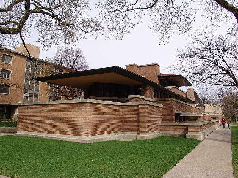 Robie House (Chicago Cook County Illinois USA foto domeniu public sursa Wikipedia) - Robie House (Chicago