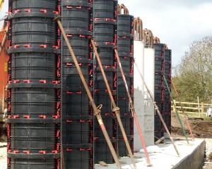 Cofraje reutilizabile pentru coloane cilindrice - Geotub - Utilizare - Cofraje reutilizabile pentru coloane - GEOPLAST