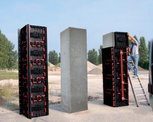 Cofraje reutilizabile modulare - Geopanel Star - Utilizare - Cofraje reutilizabile pentru coloane - GEOPLAST
