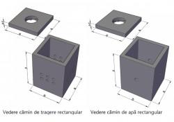 Camine rectangulare din beton armat  - Camine de tragere
