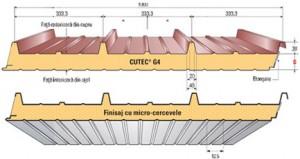 Cutec G4 - METECNO - Panouri sandwich acoperis
