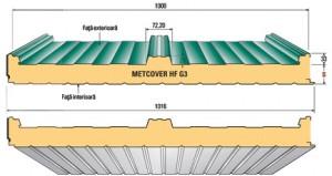 Metcover HF G3 - METECNO - Panouri sandwich acoperis