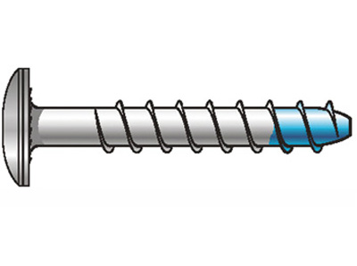 Diblu Blue-Tip cu cap plat bombat - zincat - 1.Dibluri