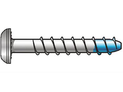 Diblu Blue - Tip cu cap semirotund - zincat - 1.Dibluri