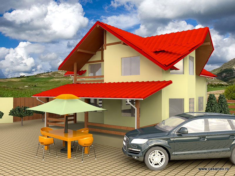 Casa lemn ILEANA - Oferta lunii iulie - Casa lemn ILEANA - la numai 53285 euro