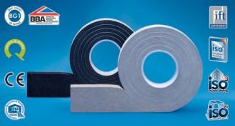 Banda de etansare impregnata cu spuma flexibila poliuretanica (PUR) cu dispersie polimerica rezistenta la foc - ISO-BLOCO 600 Premium - Benzi de etansare - ISO Chemie